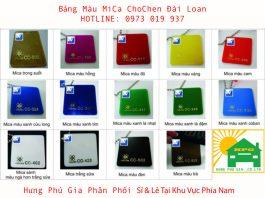 Bảng mã màu Mica ChoChen Đài Loan