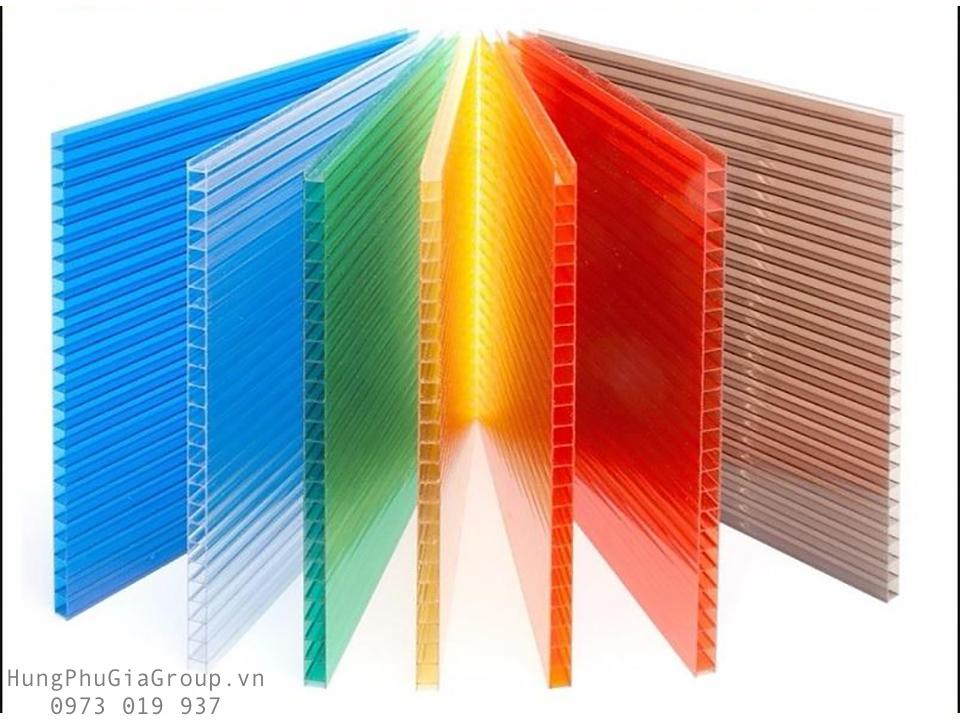Bảng màu tấm polycarbonate baye sheet rỗng