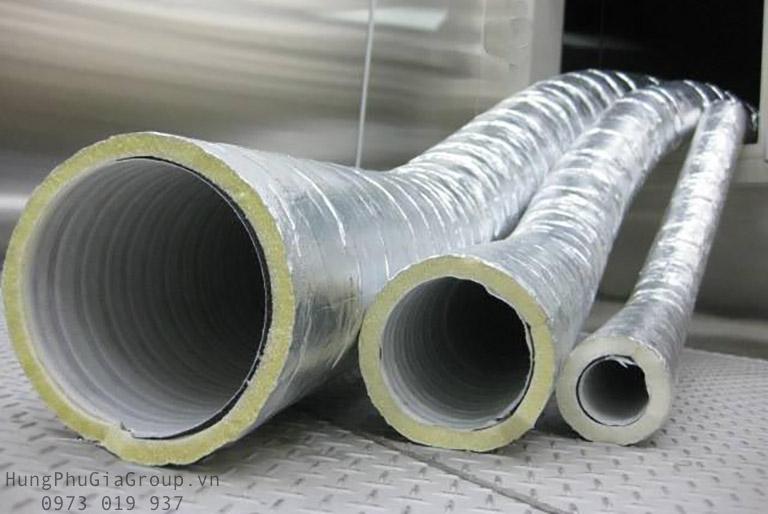 Bông thủy tinh bọc ống dẫn mềm