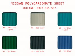Tấm Polycarbonate Nissan Sheet PC Taiwan rỗng
