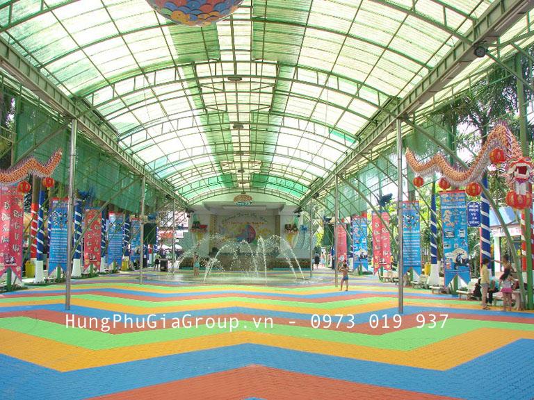 Công trình tấm tôn lấy sáng mini polytop Thailand