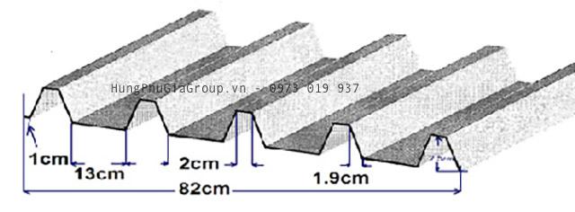 Quy cách tấm tôn trimdek polytop