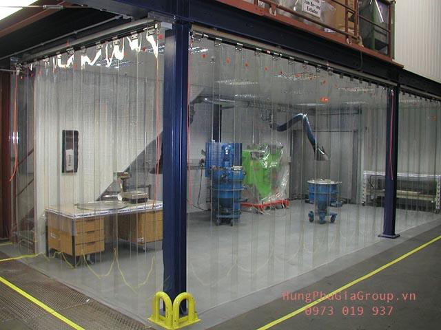 rèm nhựa pvc ngăn lạnh trong nhà máy