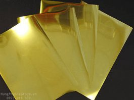 Tấm mica gương màu vàng đẹp
