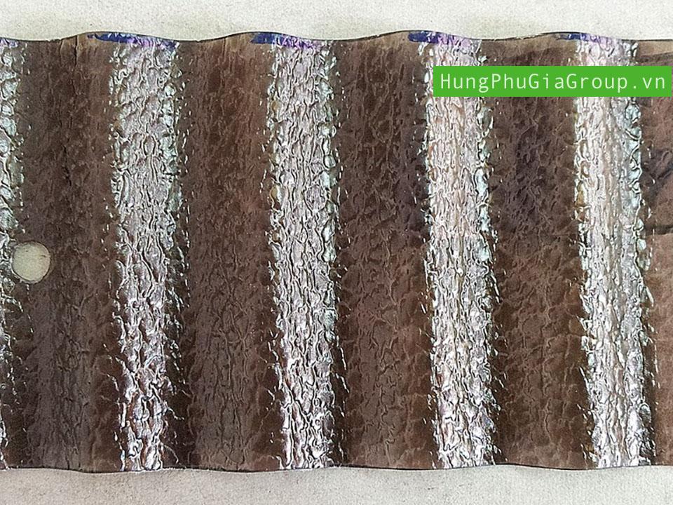 Tấm tôn Polytop dạng sần màu nâu Thái Lan nhập khẩu