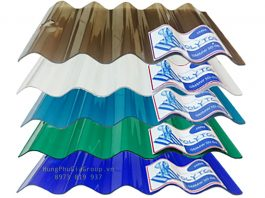 Tấm lợp lấy sáng polycarbonate nhập Thailand