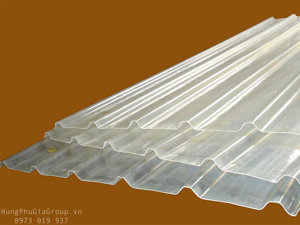 Tôn nhựa lấy sáng 5 sóng vuông sợi thủy tinh FRP