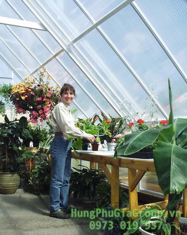 vật liệu làm nhà kính trồng rau