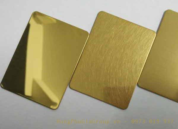 các loại tấm inox vàng gương