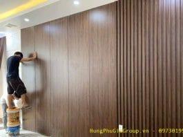 tấm nhựa giả gỗ ốp tường